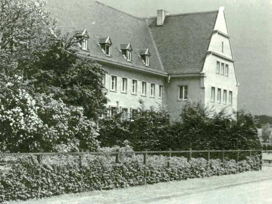 Die 1938 gebaute Kreissparkasse an der Kättkenstraße (Hermann-Göring-Straße) in Halle.