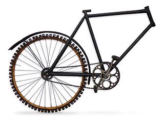 Fahrrad mit Spiralfederbereifung