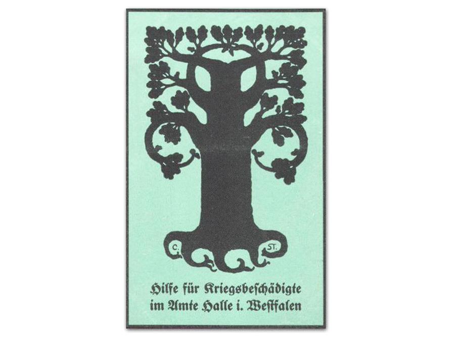 Kriegswahzeichen Nagelbild aus Halle Westfalen, Motiv Eiche. Leihgabe von Dietlinde Munzel-Everling