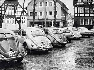 In Halle unterwegs – VW-Käfer