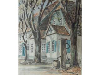 Haus Bornemann mit Brunnen
