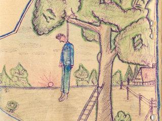 Zeichnung von Grigori Endeberja