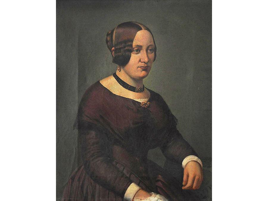 Sonderausstellung Haller Persönlichkeiten, Portrait Friederike Louise Hagedorn