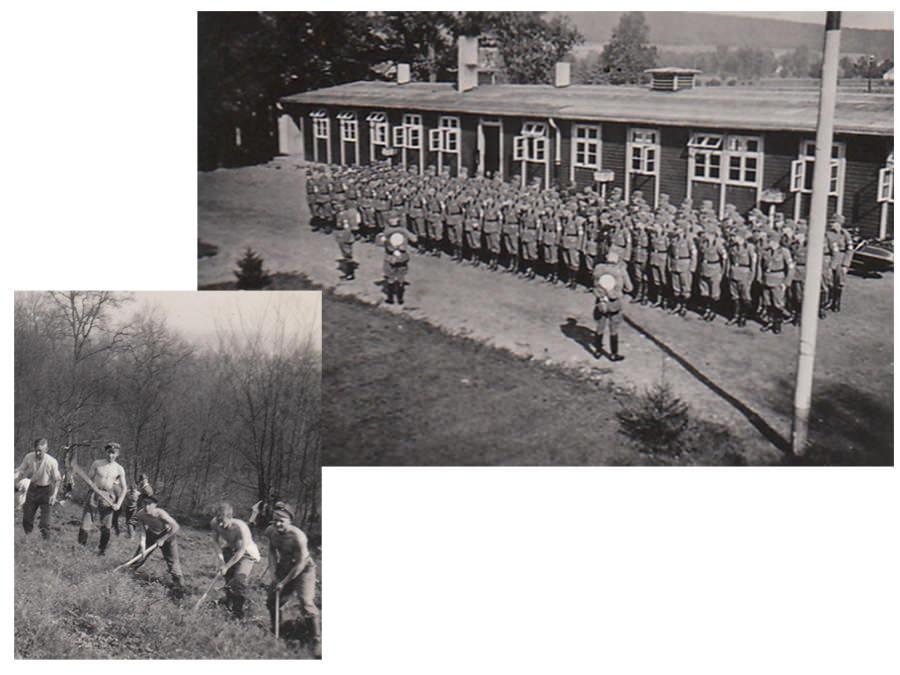 Reichsarbeitsdienst Lager Nr. 5/202 Ravensberg Hesseln bei Halle in Westfalen Foto: Privatbesitz