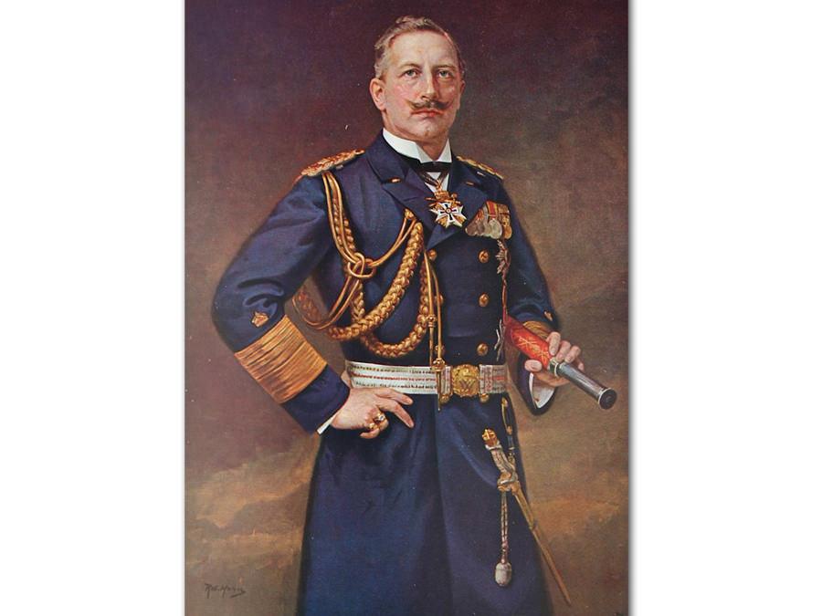 Kaiser Wilhelm II. nach einem Gemälde von Robert Hahn (gemeinfrei)