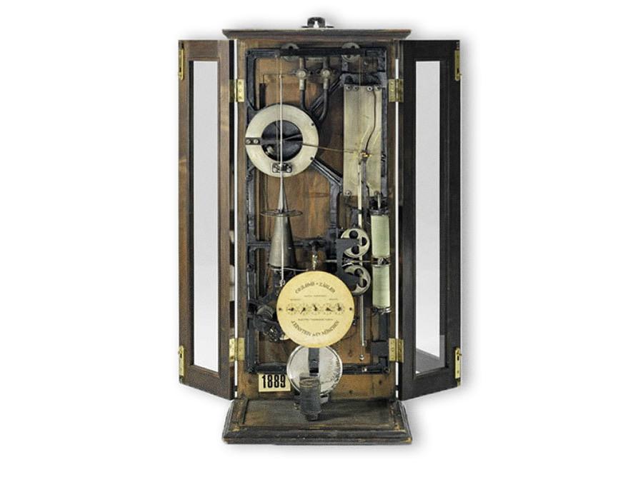 Stromzähler um 1900.