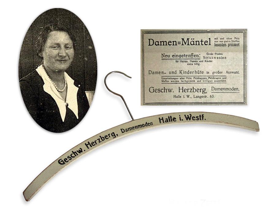 Damenmode Herzberg, Ida Herzberg Putzmacherin und jüdische Geschäftsinhaberin.