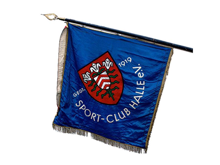 Vereinsfahne des Sportclubs Halle