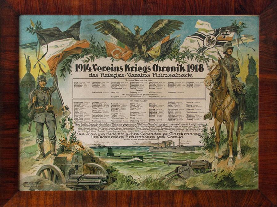 Vereins-Kriegs-Chronik der Frontkämpfer später Kyffhäuser Kameradschaft Künsebeck.