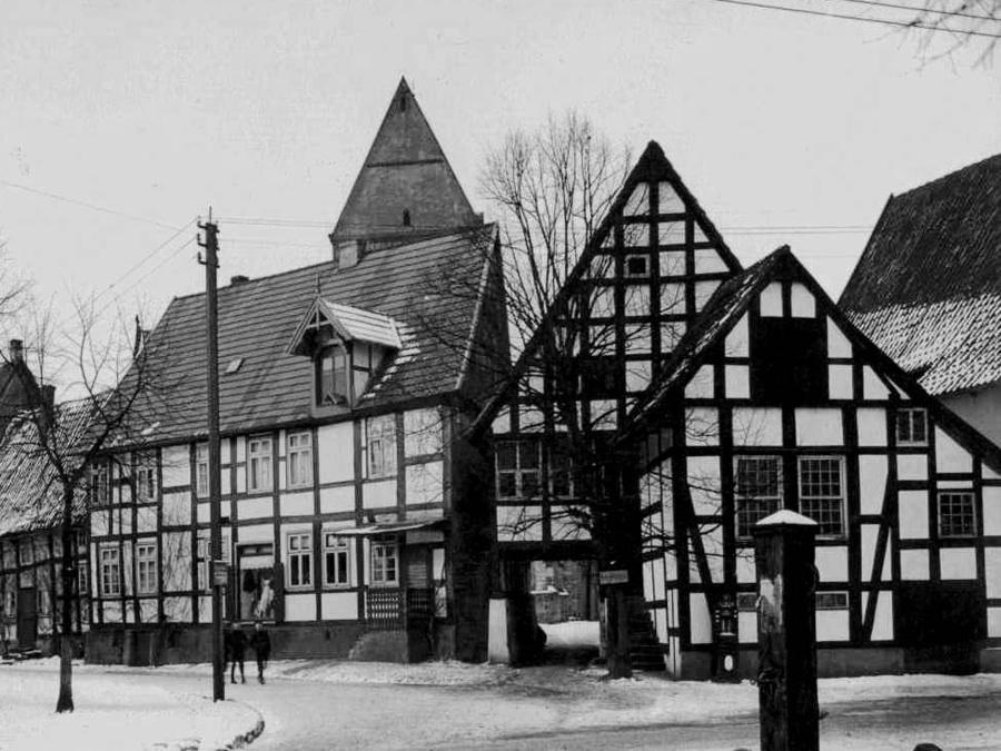 Das Fachwerkhaus Kiskers Bogen in Halle Westfalen um 1909