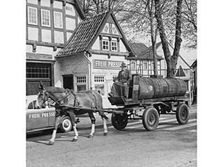 In Halle unterwegs – Schlempewagen