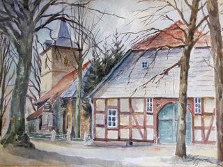 Kirche und Gemeindehaus in Hörste