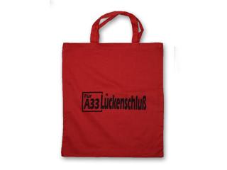 """Tasche """"Für A33 Lückenschluss"""""""