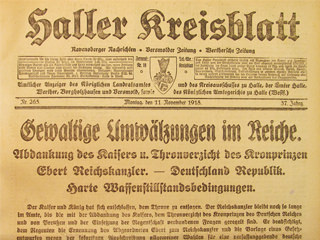Haller Kreisblatt – 9. November 1918