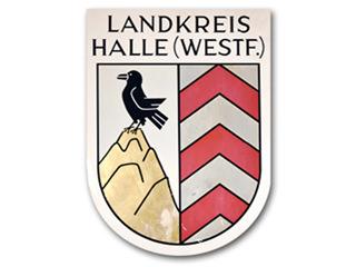 Landkreis Halle – Straßenschild