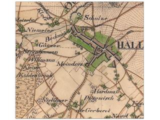 Karte von Halle – 1837