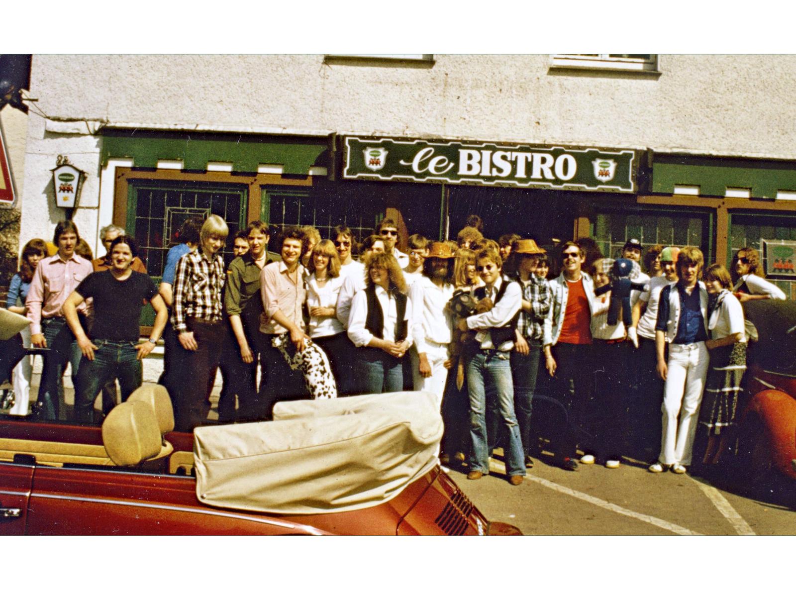 Jugendkneipe Le Bistro, Moltkestraße 32 in Halle Westfalen um 1978. Foto: Leihgabe von Dieter Luedtke.