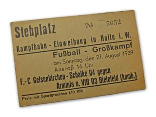Eintrittskarte Arminia-Schalke 04
