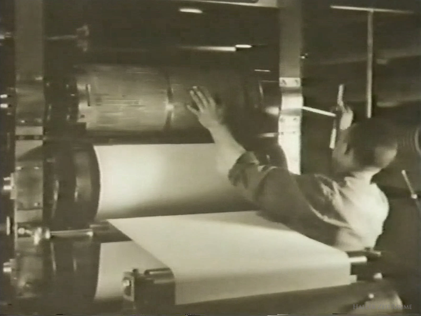 Druckerei Haller Kreisblatt - Standbild aus Film 1932 - 50 Jahre Haller Kreisblatt