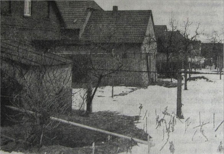 Typische Wohnsiedlung am Lothkamp in: 50 Jahre Geflügelzüchter- und Gartenbauverein Halle in Westfalen 1958, S. 43