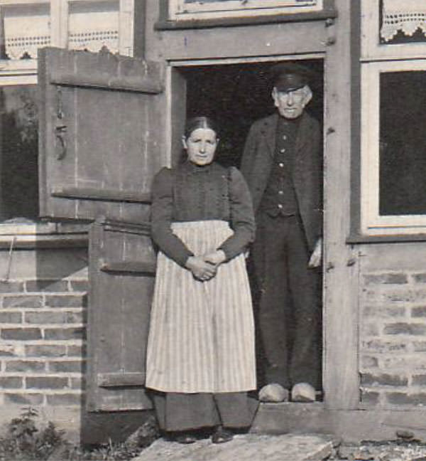 Colon Wesselmann und seine Frau in Eggeberg um 1912