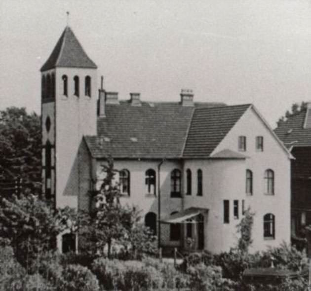 Das Postamt in Halle um 1930